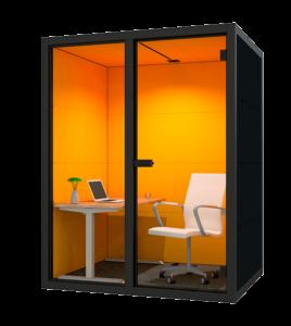 Telefooncel kantoor medium oranje
