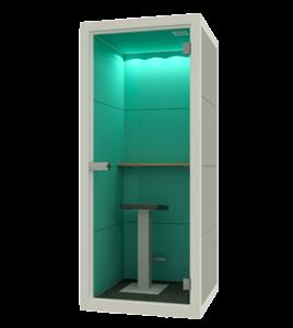 Telefooncel kantoor small groen
